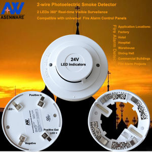 Two-Wire Photoelectric Smoke Detector Manufacturer pictures & photos