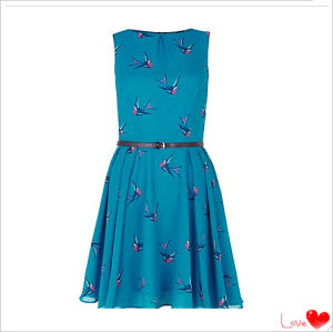 New Fashion Ladies Dress, Blue Dress, with Belt, Garment