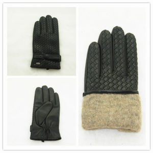 Lady Fashion Leather Gloves (JYG-25148) pictures & photos