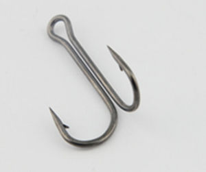 High Carbon Steel Double Hook Fishing Hook pictures & photos