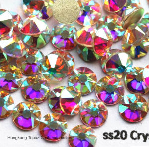 Ss20 Crystal Ab Glass Rhinestone Flatback Non Hotfix Rhinestone Crystals (FB-5mm/5A) pictures & photos