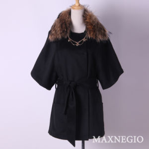 Fashion European Style Wool Overcoat for Women (1-55644)