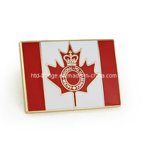 Custom Made Canadian Flag Pin with PRO Enamel (PN037)