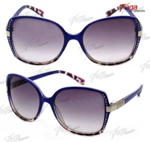 Fashion Plastic Promotion Sunglasses with Jewel Frame (SS6097)