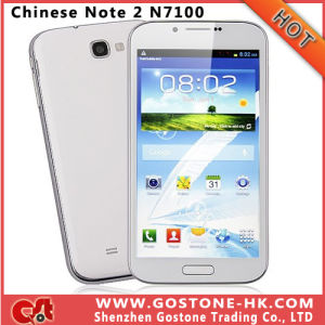 I7100 Note 2 N7100 Android 4.1 Dual Card 3G Smart Mobile Phone Mtk6577 Dual Core A9 1.0GHz RAM 1g ROM 4G 5.3′′ WiFi GPS Note2