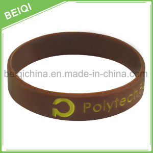 Wholesale Debossed with Color Custom Silicone Wristbands pictures & photos