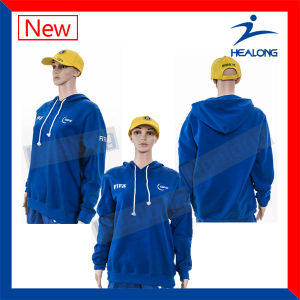 Healong Good Design Sportwear Sublimation Windbreak College Hoodie pictures & photos