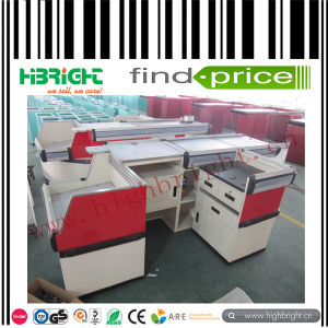 Customized Supermarket Electric Checkout Counter with Belt pictures & photos