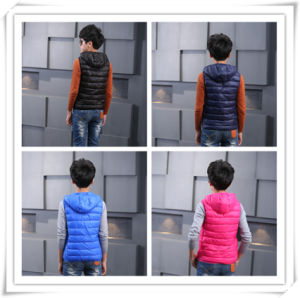 New Two Tone Children Down Jacket for Winter Garments 606 pictures & photos