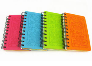 Cartoon Embossed Leather Wire-O Notebooks (WH-006) pictures & photos