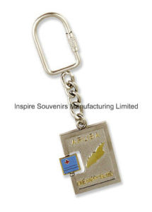 Aruba Map Squire Shape Spinner Embossed Metal Keychain (SW108) pictures & photos