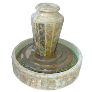Resin and Stone Indoor Fountain with Round Base pictures & photos