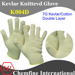 7g Kevlar/Cotton Double Layer Knitted Glove pictures & photos