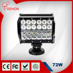 Teehon Hot Sale Waterproof 7inch 4 Rows 72W LED Lighting Bar with Movable Bracket pictures & photos