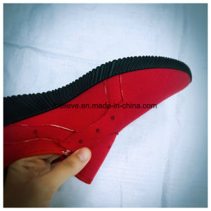 Black Outsole Injection PVC Footwear for Men pictures & photos