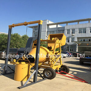 Tilting Hand Fed Concrete Mixer with Lifter pictures & photos