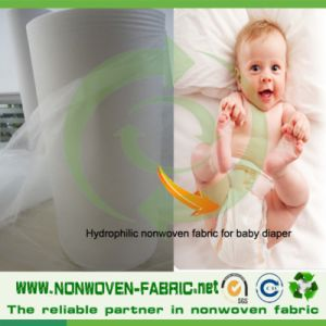 PP Hydrophilic Non Woven Fabric for Baby Diaper pictures & photos