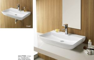 Hot Sales Double Bowl Ceramic Bathroom Vanity 30018 pictures & photos