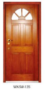 Expert Supplier Steel Wooden Door (WX-SW-135) pictures & photos