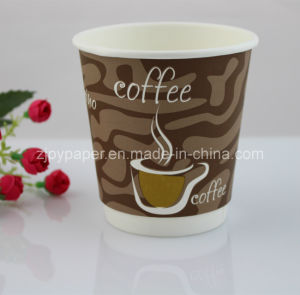 Disposable Mat Surface Double Walled Paper Cup pictures & photos