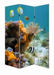 Beautiful Sea Wold Canvas Screen Divider
