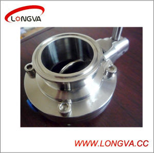 Stainless Steel 6′′ Clamped Butterfly Valve pictures & photos
