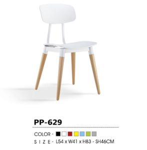 White Plastic Stacking Chair for Home Decoration (PP629) pictures & photos