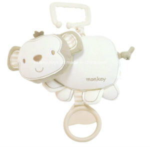 Organic Fabric Stuffed Baby Musical Hang Animal Toy pictures & photos