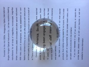 Acrylic Polishing Spherical Magnifying Glass 6X80mm pictures & photos