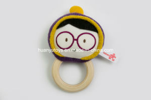 Factory Supply Knit Sweater Fabric Baby Handbell Toy with Rattle pictures & photos