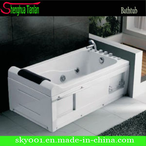 Simple High Rectangle Acrylic Massage Bathtub (TL-310) pictures & photos