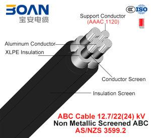 Hv ABC Cable, Aerial Bundled Cable, Al/XLPE+AAAC, 3/C+1/C, 12.7/22 Kv (AS/NZS 3599.2) pictures & photos