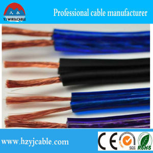 Hot Sale Transparent PVC 2 Core Speaker Cable2* 3.5mm2 Stereo Audio Speaker Cable pictures & photos