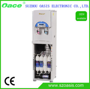 Floor Standing Hot and Cold Bottleless Water Dispenser with 4 Stages of RO