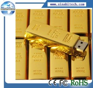 Golden Bar USB Flash Drive pictures & photos