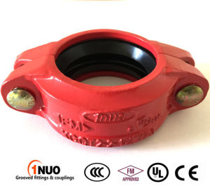Fire Fighting FM/UL Ductile Iron 300psi Grooved Rigid Coupling pictures & photos