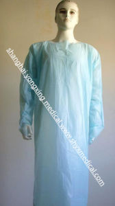 Disposable CPE Isolation Gown (elasticated cuff/knitted cuff/thumb loop)