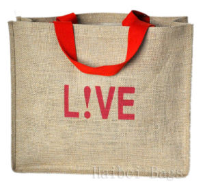 Jute Fabric Shopping Bags (hbjh-15) pictures & photos