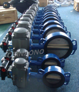 Carbon Steel pneumatic Butterfly Valve with Flange pictures & photos