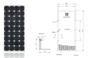 90W Solar System PV Panel Monocrystalline Solar Panel with TUV IEC Mcs CE Cec Inmetro Idcol Soncap Certificate pictures & photos