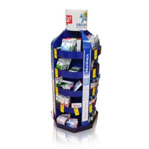 Cardboard Supermarket Display Rack, Retail Floor Display