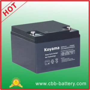 24ah 12V Deep Cycle Gel Battery for Electric Vehicle pictures & photos