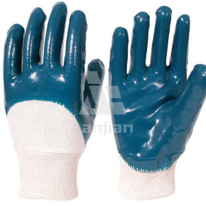 Nitril Coated Jersey Glove pictures & photos