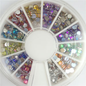 Crystal Ab Nail Rhinestones, Flat Back Non Hotfix Glitter Nail Stones, DIY 3D Nail Phones Decorations Supplier pictures & photos