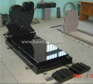 Black Granite Tomb Stone with Heart Shape pictures & photos