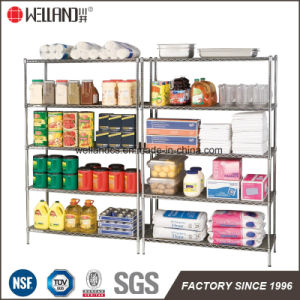 5 Tiers 800lbs Restraurant Kitchen Storage Steel Wire Shelving Rack, NSF Approval pictures & photos