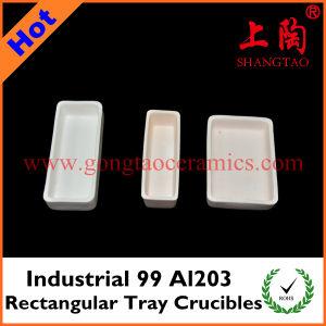 Industrial 99 Al2O3 Rectangular Tray Crucibles pictures & photos