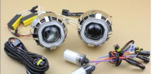Best Selling HID Car Light 3.0 Inch Double Angel Eyes HID Bi-Xenon Projector Lens pictures & photos