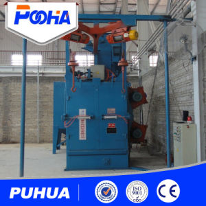 Hanging Hook Type Shot Blasting Machine for Bicycle Cleaning pictures & photos