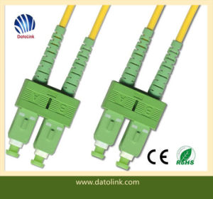 Fiber Optic Patchcord Sc APC-Sc APC Sm 9 125 Duplex pictures & photos